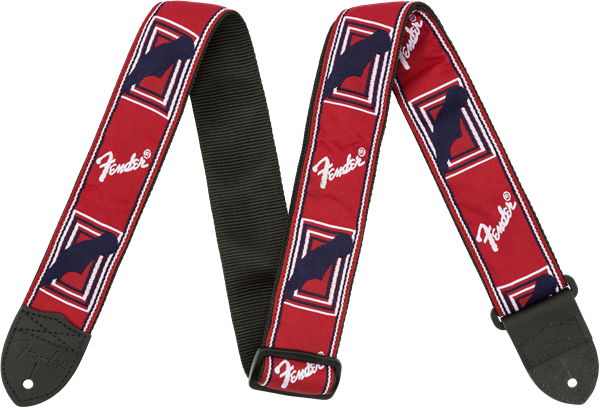 "FENDER® 2"" MONOGRAMMED STRAPS RED WHI BLUE"