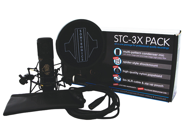 SONTRONICS STC-3X PACK BLACK